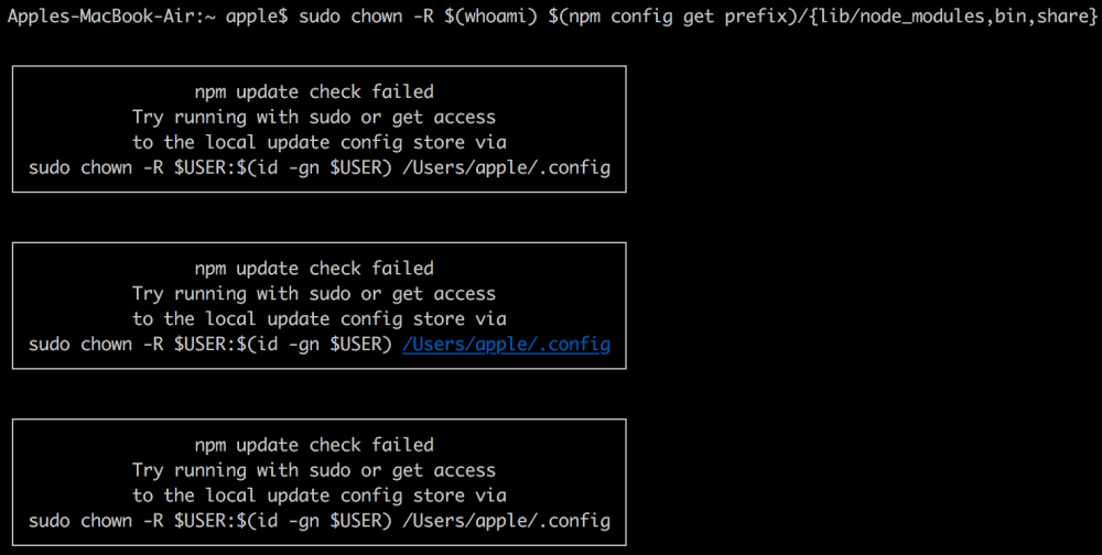 Fixing npm(Node Package Manager) permissions – Geek's World !!!